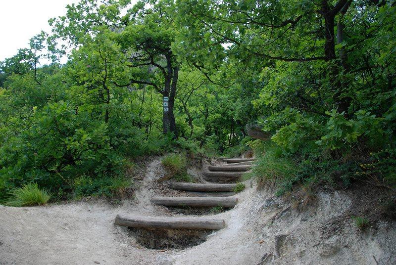 Tündér-szikla alatti lépcső
